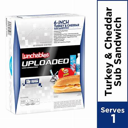 Lunchables Sub Turkey Uploaded Cheddar Sandwich Walmart