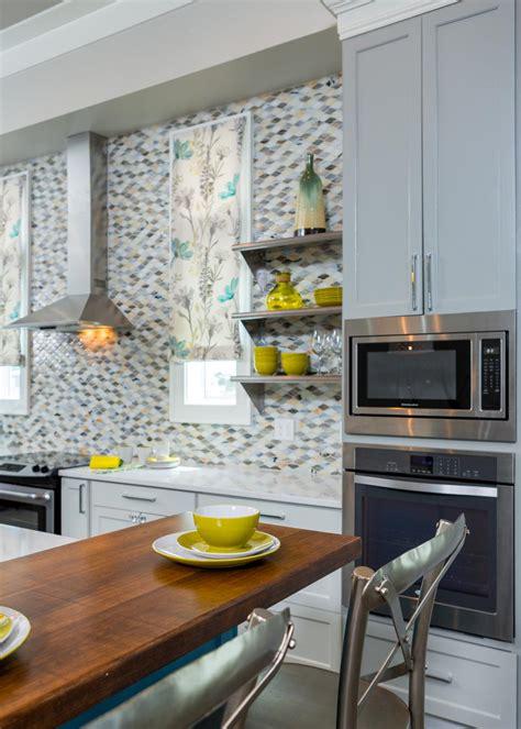 bright coastal kitchen  open shelving  offbeat