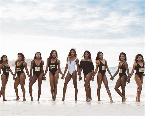 Olympian Shaunae Miller Stages Empowering Swimsuit Shoot With Her Bridesmaids