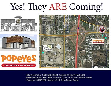 olive garden davenport iowa popeye s olive garden panda express coming to moline