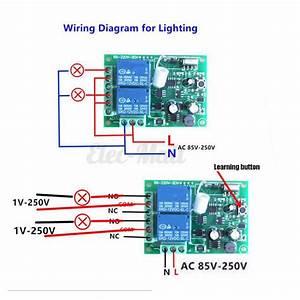 1  2  4  6  8 Ch Channel Wireless Rf Remote Control Receiver