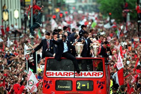 manchester united treble  pictures  video