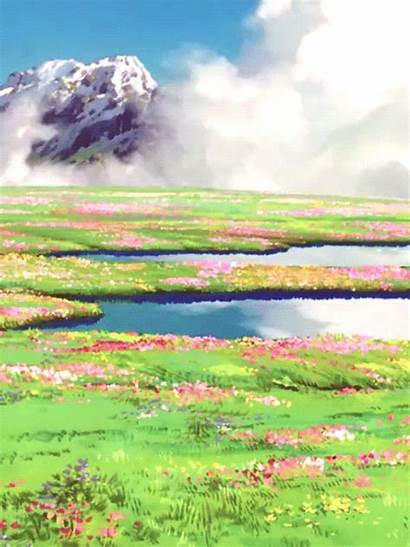 Castle Moving Howls Ghibli Studio Scenery Scene