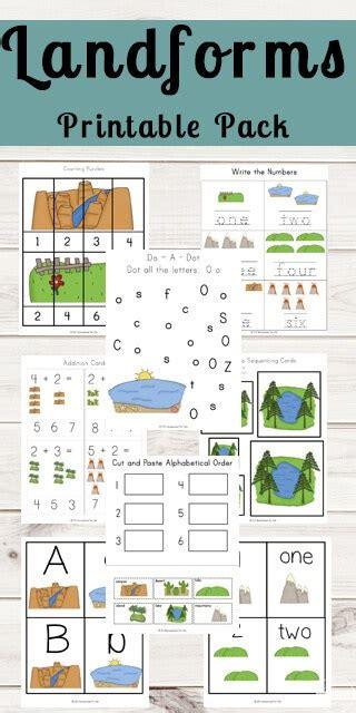 landforms printable 123 homeschool 4 me