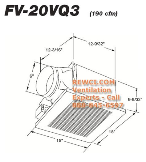 panasonic fv 20vq3 whisperceiling ventilation bathroom fan