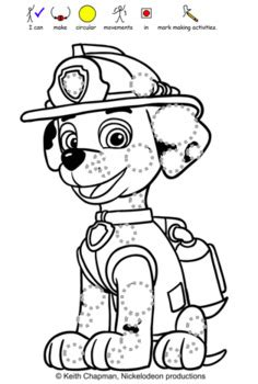 paw patrol pre writing pack  promote pencil skills tpt