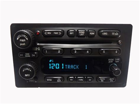 03 06 gmc chevrolet oem factory rds stereo am fm radio 6 disc changer player ebay