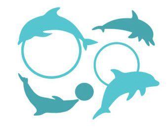 Svgcuts.com blog free svg files for cricut design space, sure cuts a lot and silhouette studio designer edition. dolphin monogram frames silhouette svg dxf file instant ...