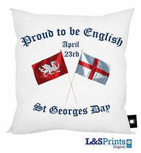 Proud to be English - St Georges day Cushion