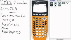 Least Common Multiple LCM TI 84 Calculator Top Priority ...