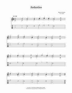 Mauro Giuliani: Andantino Partition Guitare Classique