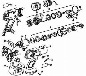 Dewalt Model Dw972 Drill Cordless Genuine Parts