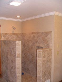 Replacing A Shower by Walk In Tile Shower No Door Search Master