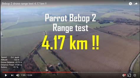 bebop  drone range test  km youtube