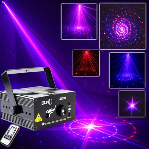 mini stage lighting remote 12 patterns laser projector dj