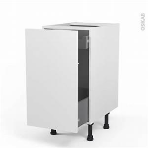 Frein De Porte De Cuisine : meuble de cuisine bas coulissant ginko blanc 1 porte 1 ~ Edinachiropracticcenter.com Idées de Décoration