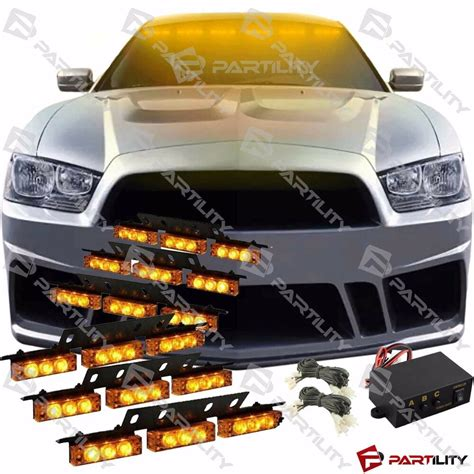 Truck Grill Lights by 54 Led Emergency Vehicle Strobe Flash Lights Front