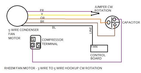 rheem heat pump air conditioner how to change your condenser fan motor