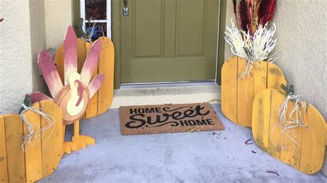 diy pallet turkey pumpkins   reclaimed wood
