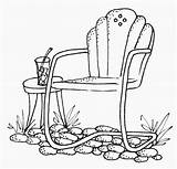 Chair Clipart Patio Chairs Stamps Drawing Digital Stitch Cross Coloring Digi Embroidery July Clip Lawn Line Cartwheeling Through Outside Furniture sketch template
