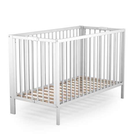 chambre bebe evolutif pas cher ateliers t4 lit bébé pliant laqué blanc 60x120 cm blanc