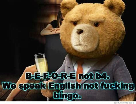 Meme Loving Fuck - speak english not bingo funny meme