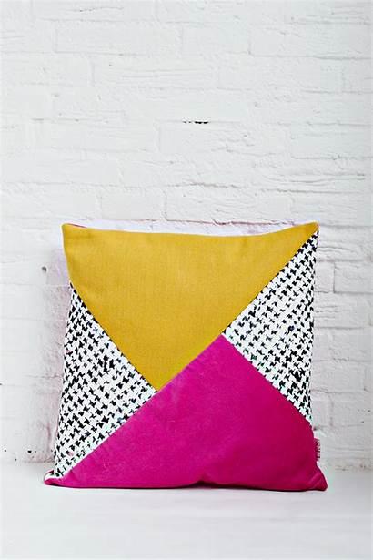 Cushion Diy Handmade Covers Mustard Block Pink