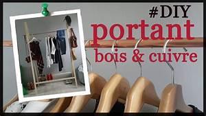 Portant Vetement En Bois : diy facile fabriquer un portant a vetement en bois et en cuivre pour de 30 youtube ~ Teatrodelosmanantiales.com Idées de Décoration