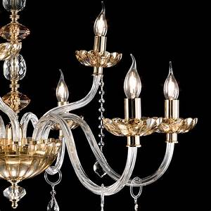 Classic design lights chandelier made of glass and