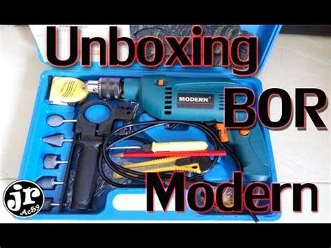 bor listrik murah meriah unboxing merk modern youtube
