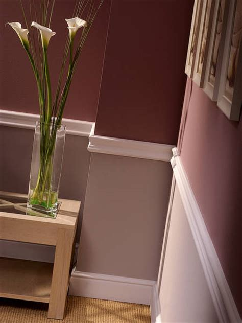 chair rail paint idea wine color on the bottom in a fau