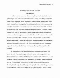 thesis about learning styles