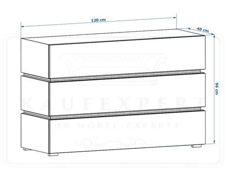 Kaufexpert  Kommode Shine Sideboard 120 Cm Rot Hochglanz