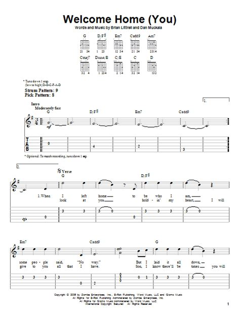 Welcome Home (you) By Brian Littrell  Easy Guitar Tab