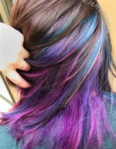Rainbow Unicorn Hair Galaxy Underlights Purple Blue