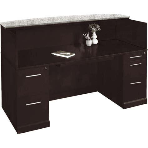 Mayline Reception Desk by Mayline Sorrento Reception Desk Marble Counter Espresso