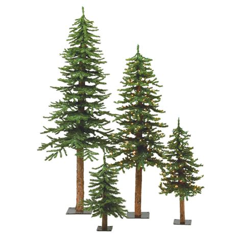 vickerman 4 5 and 6 natural bark alpine tree set
