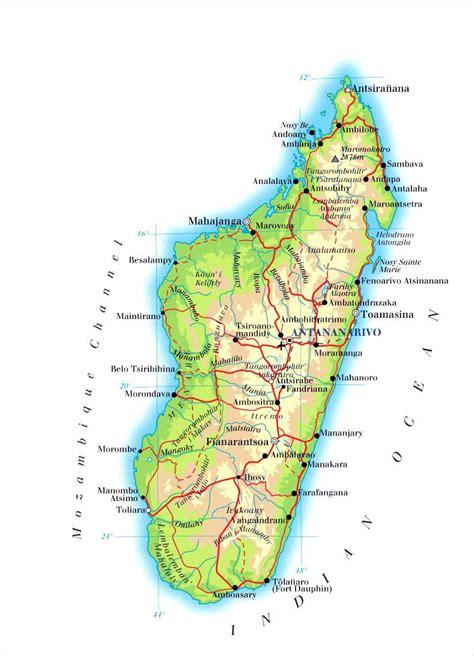 madagascar maps printable maps  madagascar
