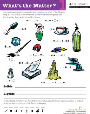 what s the matter 1 worksheet education com
