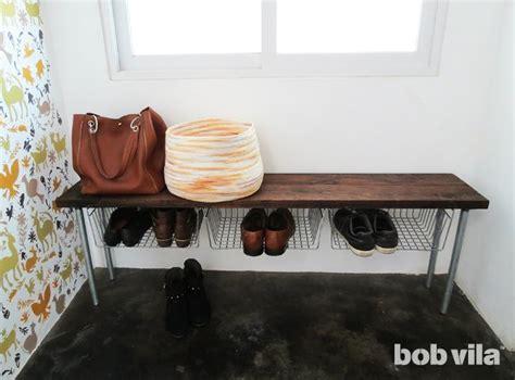Diy Shoe Storage Bench Tutorial