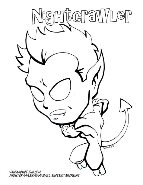 Nightcrawler Coloring Pages Marvel Nightcrawler Coloring Page Coloring Coloring Pages