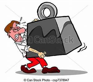 Stock Illustrations of Carry that weight.WBG. - Cartoon ...