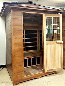 decorate with 3 person outdoor sauna far infrared
