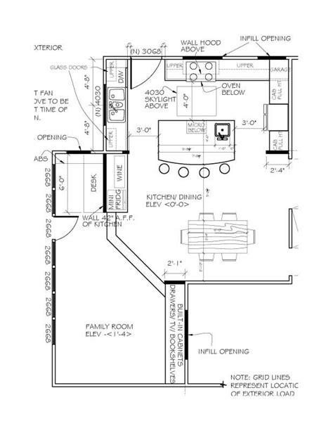 kitchen island floor plans u shaped kitchen floor plans with island