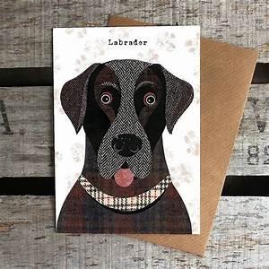 labrador dog card by simon hart notonthehighstreet com