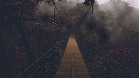 Gloomy Forest Bridge Wallpaper 49801 1920x1080 Px