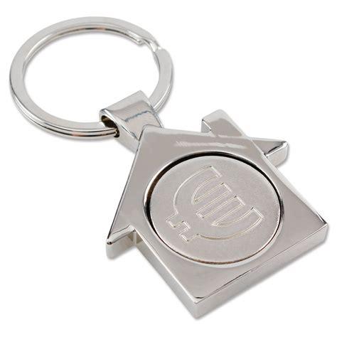 """Schlüsselanhänger """"haus"""" Mit Einkaufswagenchip Silber"""