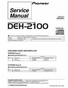 Pioneer Deh-2100ib Wiring Diagram