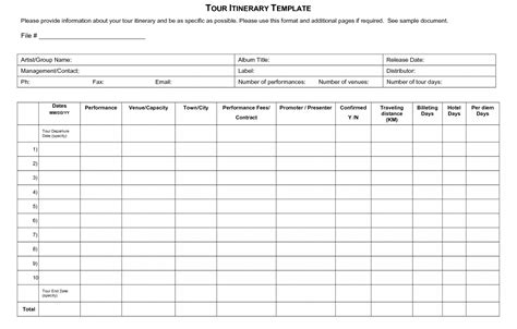 Trip Itinerary Template Free Trip Business Travel Itinerary Template