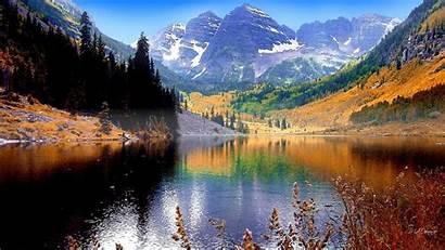 Fall Desktop Mountain Lake